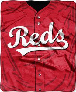 Northwest MLB Reds Jersey Raschel Throw