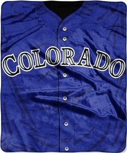 Northwest MLB Rockies Jersey Raschel Throw