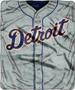 Northwest MLB Tigers Jersey Raschel Throw
