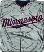 Northwest MLB Twins Jersey Raschel Throw