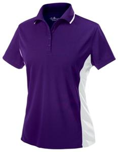 Womens Color Blocked Wicking Polo Shirts 8 Colors