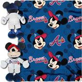 MLB Braves Disney Mickey Hugger & Fleece Throw