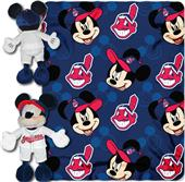 MLB Indians Disney Mickey Hugger & Fleece Throw