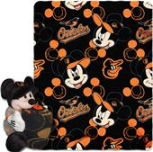 MLB Orioles Disney Mickey Hugger & Fleece Throw
