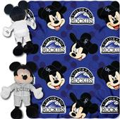 MLB Rockies Disney Mickey Hugger & Fleece Throw