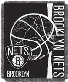 NBA Nets Double Play Woven Jacquard Throw