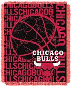 NBA Bulls Double Play Woven Jacquard Throw