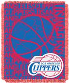 NBA Clippers Double Play Woven Jacquard Throw