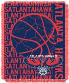 NBA Hawks Double Play Woven Jacquard Throw