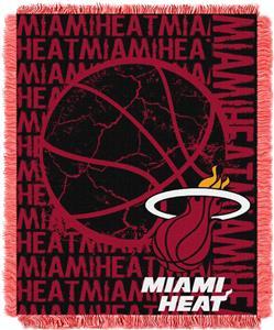 NBA Heat Double Play Woven Jacquard Throw