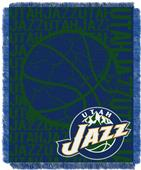 NBA Jazz Double Play Woven Jacquard Throw