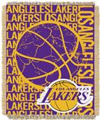 NBA Lakers Double Play Woven Jacquard Throw