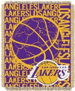 NBA Lakers Double Play Woven Jacquard Throw