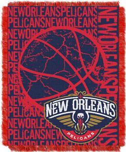 NBA Pelicans Double Play Woven Jacquard Throw