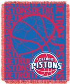 NBA Pistons Double Play Woven Jacquard Throw