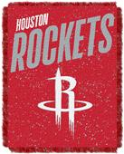NBA Rockets Double Play Woven Jacquard Throw
