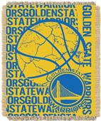 NBA Warriors Double Play Woven Jacquard Throw