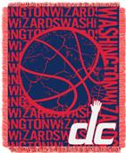 NBA Wizards Double Play Woven Jacquard Throw