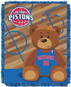 Northwest NBA Pistons Baby Woven Jacquard Throw