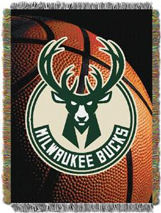 Northwest NBA Bucks Photo Real Tapestry Throw