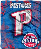 Northwest NBA Pistons Dropdown Raschel Throw