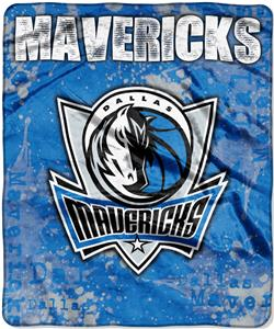 Northwest NBA Mavericks Dropdown Raschel Throw