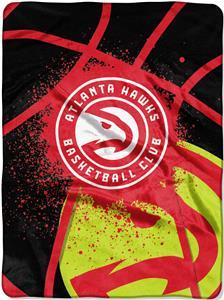 Northwest NBA Hawks Shadow Play Raschel Throw
