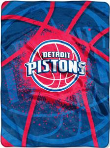 Northwest NBA Pistons Shadow Play Raschel Throw