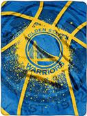 Northwest NBA Warriors Shadow Play Raschel Throw