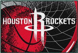 Northwest NBA Rockets Large Tufted Rug