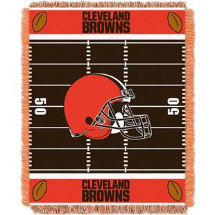 Northwest NFL Browns Field Baby Woven Throw