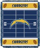 Northwest NFL Chargers Field Baby Woven Throw