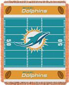 Northwest NFL Dolphins Field Baby Woven Throw