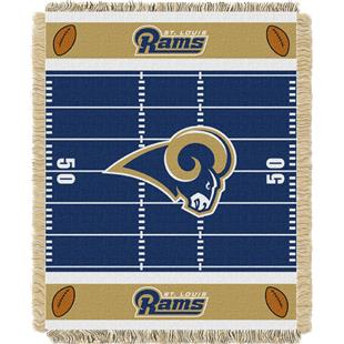 Northwest NFL Rams Field Baby Woven Throw