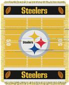 Northwest NFL Steelers Field Baby Woven Throw