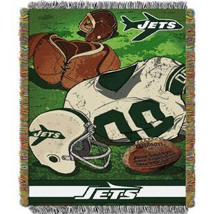 Northwest NFL Jets Vintage Tapestry Throw