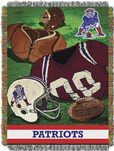 Northwest NFL Patriots Vintage Tapestry Throw
