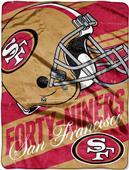 Northwest NFL 49ers Deep Slant Micro Raschel Throw