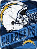Northwest NFL Chargers Deep Slant Raschel Throw