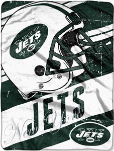 Northwest NFL Jets Deep Slant Raschel Throw