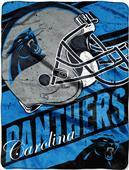 Northwest NFL Panthers Deep Slant Raschel Throw