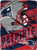 Northwest NFL Patriots Deep Slant Raschel Throw