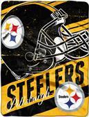 Northwest NFL Steelers Deep Slant Raschel Throw