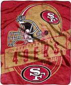 Northwest NFL 49ers Grand Stand Raschel Throw