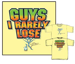 Closeout-Rarely Lose Yellow soccer tshirts gifts