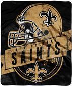 Northwest NFL Saints Grand Stand Raschel Throw