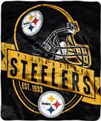 Northwest NFL Steelers Grand Stand Raschel Throw