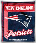 Northwest NFL Patriots 50x60 Mink Sherpa Throw