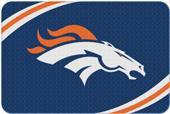 Northwest NFL Broncos Round Edge Bath Rug