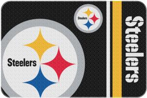 Northwest NFL Steelers Round Edge Bath Rug
